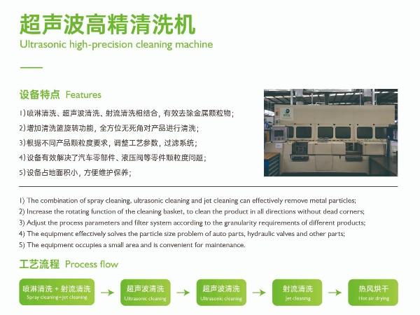 【鑫承诺丨高精清洗机】三大系统相结合的清洗工艺